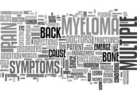 BACK PAIN AND MULTIPLE MYELOMA TEXT WORD CLOUD CONCEPT