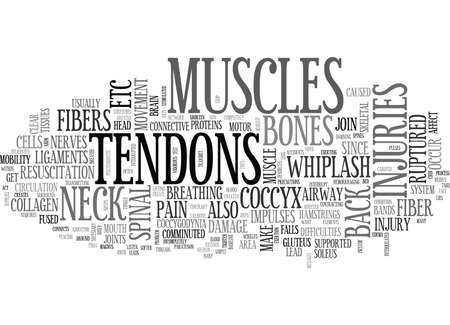 BACK PAIN AND TENDONS TEXT WORD CLOUD CONCEPT