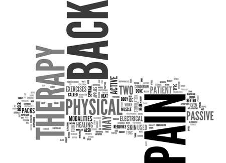 fortunately: BACK PAIN THERAPY TEXT WORD CLOUD CONCEPT