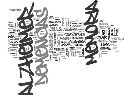ALZHEIMER DISEASE AND ANTIOXIDANTS TEXT WORD CLOUD CONCEPT