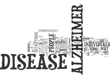 ALZHEIMER S DISEASE HOW DOES THE DISEASE DEVELOP TEXT WORD CLOUD CONCEPT