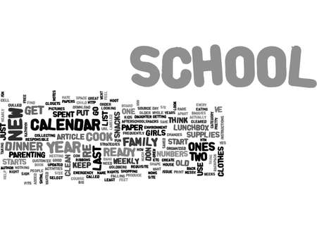 BACK TO SCHOOL STRATEGIES TEXT WORD CLOUD CONCEPT
