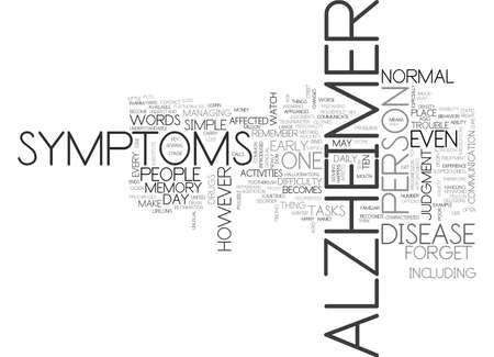 ALZHEIMER STAGES TEXT WORD CLOUD CONCEPT