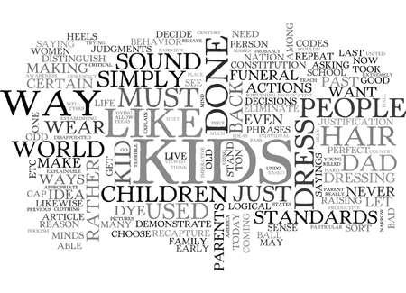 子供のテキスト単語雲概念だった頃します。  イラスト・ベクター素材