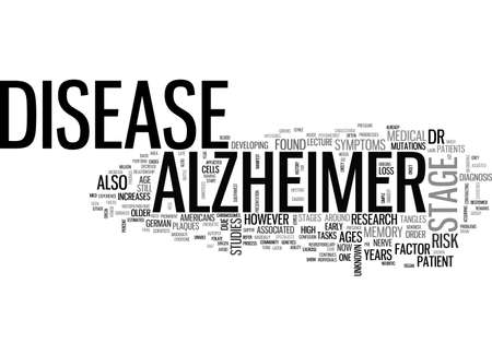 ALZHEIMERS DEMENTIA TEXT WORD CLOUD CONCEPT