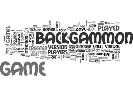BACKGAMMON FOR BEGINNERS TEXT WORD CLOUD CONCEPT
