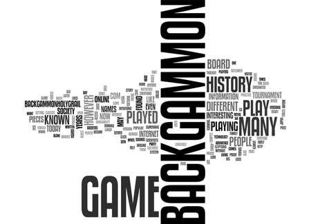 backgammon: BACKGAMMON HISTORY TEXT WORD CLOUD CONCEPT Illustration