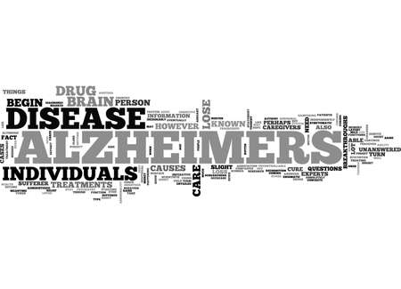 ALZHEIMERS DISEASE TEXT WORD CLOUD CONCEPT