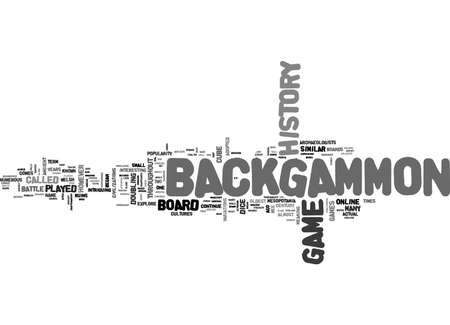 BACKGAMMON ONLINE TEXT WORD CLOUD CONCEPT