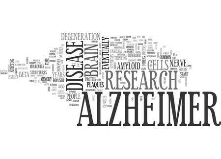 ALZHEIMERS MEMORY LOSS TEXT WORD CLOUD CONCEPT