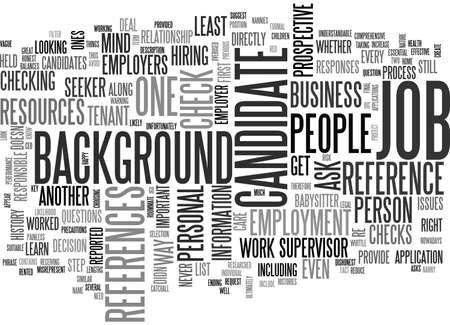 BACKGROUND CHECKS AND BALANCES TEXT WORD CLOUD CONCEPT Illustration