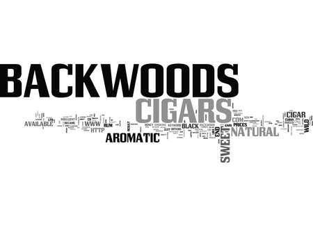 BACKWOODS CIGARS TEXT WORD CLOUD CONCEPT