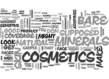 told: BARE MINERALS COSMETICS TEXT WORD CLOUD CONCEPT