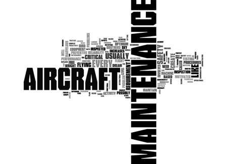 AIRCRAFT MAINTENANCE TEXT WORD CLOUD CONCEPT