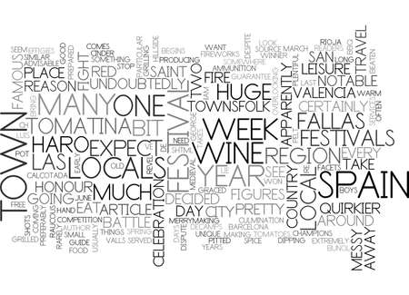 A GUIDE TO SPAIN S QUIRKIER FESTIVALS TEXT WORD CLOUD CONCEPT