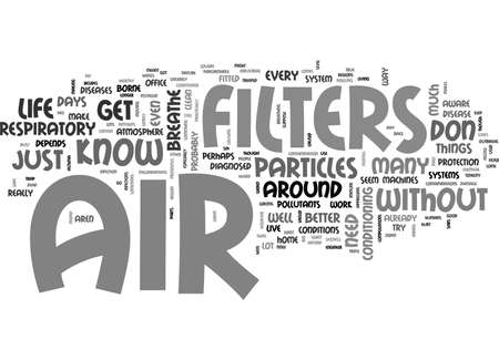 AIRFILTERS TEXT WORD CLOUD CONCEPT