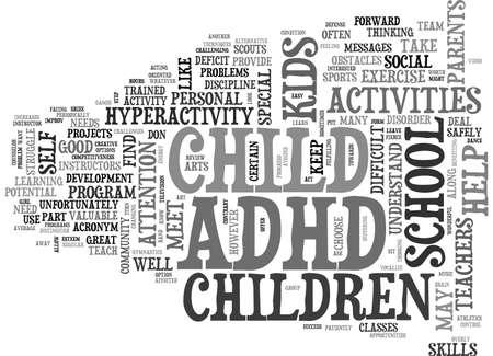 ADHD NA SCHOOL TEXT WORD CLOUD CONCEPT