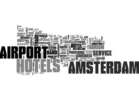 replaced: AIRPORT AMSTERDAM HOTELS TEXT WORD CLOUD CONCEPT