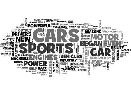 テキスト WORD クラウドの概念はスポーツ車の歴史  イラスト・ベクター素材