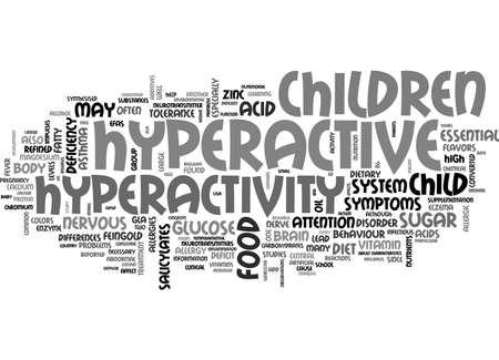 ADHD HYPERACTIVITEIT TEKST WORD CLOUD CONCEPT