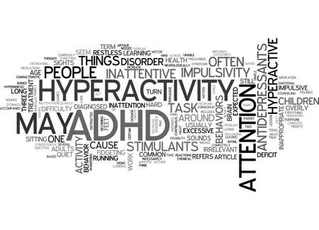 ADHD ME TEXT WORD CLOUD CONCEPT