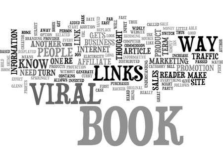 A LOOK AT VIRAL E BOOKS TEXT WORD CLOUD CONCEPT Ilustração