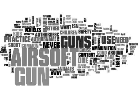 AIRSOFT GUN SAFETY TEXT WORD CLOUD CONCEPT