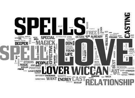 A LOVE SPELL COULD PUT SOME MAGIC IN YOUR LOVE LIFE TEXT WORD CLOUD CONCEPT