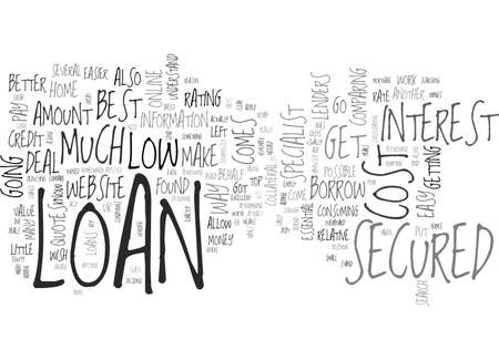 A LOW COST SECURED LOAN CAN BE FOUND ONLINE TEXT WORD CLOUD CONCEPT