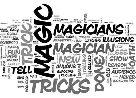 A MAGICIAN S OATH TEXT WORD CLOUD CONCEPT