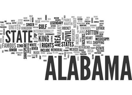 ALABAMA TEXT WORD CLOUD CONCEPT