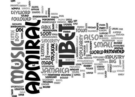 admiral: ADMIRAL TIBET TEXT WORD CLOUD CONCEPT Illustration