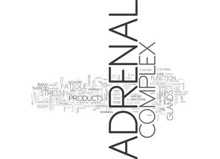 suprarrenales: ADRENAL COMPLEX TEXT WORD CLOUD CONCEPT