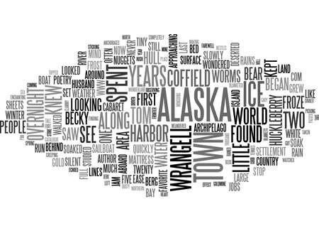 ALASKA ON MY MIND TEXT WORD CLOUD CONCEPT
