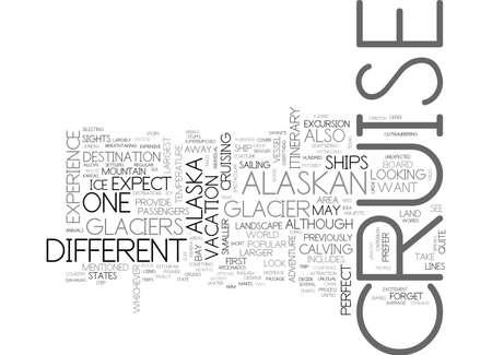 bahamas: ALASKAN CRUISE TEXT WORD CLOUD CONCEPT