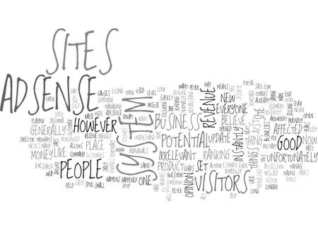 ADSENSE GOOD OR BAD TEXT WORD CLOUD CONCEPT