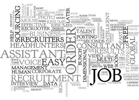 A MOUSE CAN HELP YOU RECRUIT RECRUITERS CANNOT BE WRONG TEXT WORD CLOUD CONCEPT Illustration