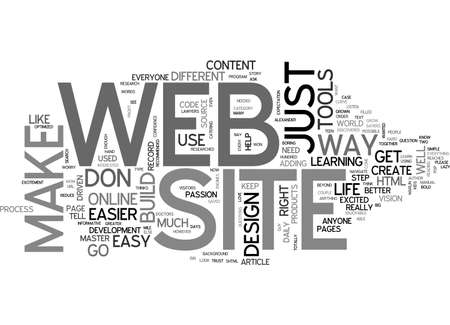 A MUCH EASIER WAY TO MAKE YOUR OWN WEB SITE TEXT WORD CLOUD CONCEPT