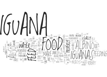 appropriately: ALBINO IGUANA TEXT WORD CLOUD CONCEPT