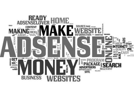 ADSENSELOVER MAKE MONEY AT HOME WITH ADSENSELOVERCOM TEXT WORD CLOUD CONCEPT