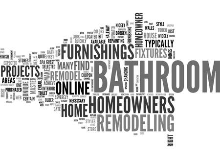 A NEW LOOK FOR YOUR BATHROOM TEXT WORD CLOUD CONCEPT Ilustrace