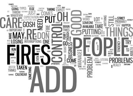 ADULT ADD ARE YOU A FIRE FIGHTER TEXT WORD CLOUD CONCEPT Illustration