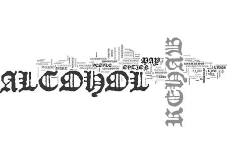 ALCOHOL REHAB WHEN IT S NECESSARY TEXT WORD CLOUD CONCEPT