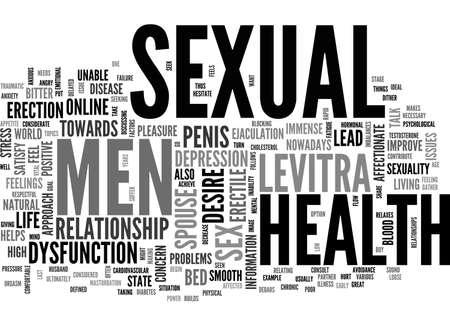 A POSITIVE APPROACH TOWARDS MEN S SEXUAL HEALTH TEXT WORD CLOUD CONCEPT Illusztráció