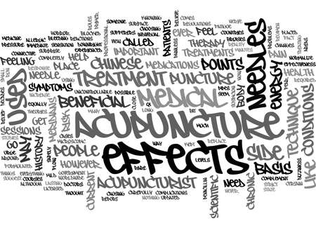 A PRIMER ON MEDICAL ACUPUNCTURE TEXT WORD CLOUD CONCEPT Illustration