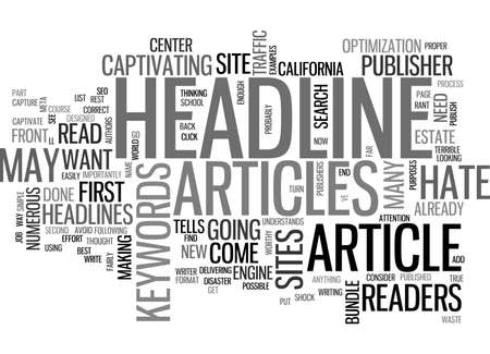 A PUBLISHER S RANT WHY I HATE YOUR ARTICLE HEADLINES TEXT WORD CLOUD CONCEPT