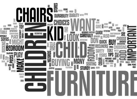 A QUICK GUIDE TO CHILDREN S FURNITURE FOR THE BEDROOM OR PLAYROOM TEXT WORD CLOUD CONCEPT