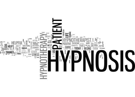 A QUICK GUIDE TO HYPNOTHERAPY TEXT WORD CLOUD CONCEPT