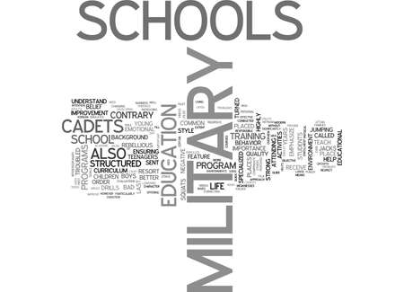 A QUICK GUIDE TO LIFE AT MILITARY SCHOOL TEXT WORD CLOUD CONCEPT