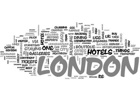 A QUICK GUIDE TO LONDON TEXT WORD CLOUD CONCEPT
